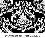 vector damask seamless pattern... | Shutterstock .eps vector #785982379