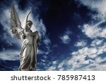 Antique Sstatue Of An Angel On...