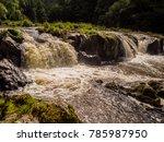 amazing cenarth falls after... | Shutterstock . vector #785987950