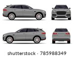 realistic suv car. front view ... | Shutterstock .eps vector #785988349