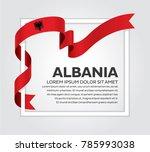 albania flag on a white... | Shutterstock .eps vector #785993038