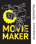 movie maker poster  design with ... | Shutterstock .eps vector #785994796
