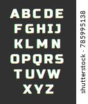 glitch typeface. letters vector ... | Shutterstock .eps vector #785995138