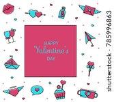 valentine's day vector template ... | Shutterstock .eps vector #785996863