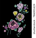 embroidery traditional pattern... | Shutterstock .eps vector #786001624