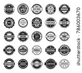 vintage badges and labels stamp ... | Shutterstock . vector #786003670