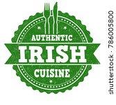 authentic irish cuisine grunge... | Shutterstock .eps vector #786005800