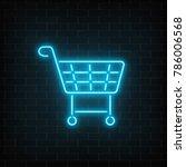 glowing neon supermarket... | Shutterstock .eps vector #786006568
