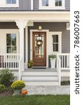 front door  brown front door of ... | Shutterstock . vector #786007663