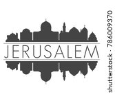 jerusalem israel skyline vector ...   Shutterstock .eps vector #786009370