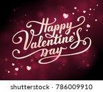 happy valentine's day text.... | Shutterstock .eps vector #786009910