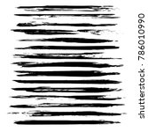 very long abstract thin black...   Shutterstock .eps vector #786010990