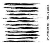 thin long hand drawn black... | Shutterstock .eps vector #786011086
