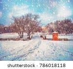 Snowing Beautiful Winter Scene...