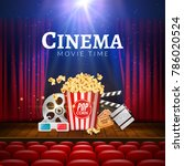 movie cinema premiere poster... | Shutterstock .eps vector #786020524