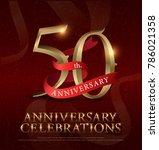 50th years anniversary... | Shutterstock .eps vector #786021358