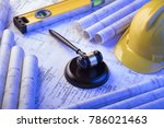 labor and construction law. | Shutterstock . vector #786021463