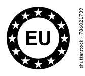 european union icon. eu stars... | Shutterstock .eps vector #786021739