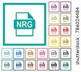 nrg file format flat color... | Shutterstock .eps vector #786024484