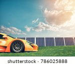 natural energy cars and solar... | Shutterstock . vector #786025888
