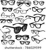 set of sunglasses   Shutterstock .eps vector #786029599