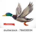 Duck. Hunting 3d Vector Icon