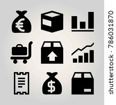 shopping vector icon set.... | Shutterstock .eps vector #786031870