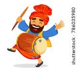popular winter punjabi folk... | Shutterstock .eps vector #786035980