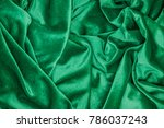 green soft plush fabric with... | Shutterstock . vector #786037243