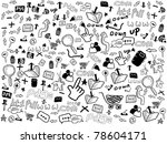 seamless doodle web pattern | Shutterstock .eps vector #78604171