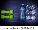 drink water concept. 2 litres... | Shutterstock . vector #786046714