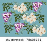 illustration with orchid... | Shutterstock .eps vector #78605191