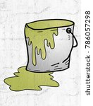 old yellow paint | Shutterstock . vector #786057298