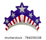 isolated red  white and blue...   Shutterstock . vector #786058108