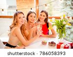 three pretty  nice  confident ... | Shutterstock . vector #786058393