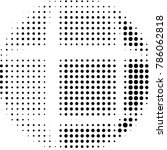 grunge halftone black and white ... | Shutterstock . vector #786062818