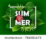 exotic tropical leaf background ... | Shutterstock .eps vector #786081673