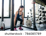 asian athletic young woman... | Shutterstock . vector #786085789