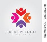 logo design template for... | Shutterstock .eps vector #786086728