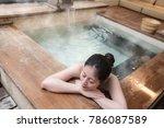she really enjoys  beautiful... | Shutterstock . vector #786087589
