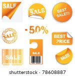 vector set of sale icons | Shutterstock .eps vector #78608887