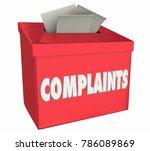 Stock photo complaints comments bad negative feedback box d illustration 786089869