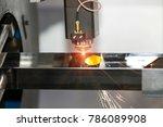 high precision cnc laser... | Shutterstock . vector #786089908