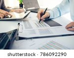 businessman working at work... | Shutterstock . vector #786092290