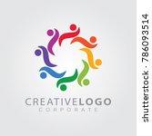 colorful logo design template...   Shutterstock .eps vector #786093514