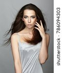 beauty portrait of young woman. ... | Shutterstock . vector #786094303