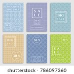 collection of sale banners ... | Shutterstock .eps vector #786097360