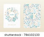 cover design with floral... | Shutterstock .eps vector #786102133