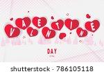 happy valentines day romantic... | Shutterstock .eps vector #786105118