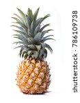 pineapple isolated on white... | Shutterstock . vector #786109738